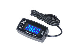 Deluxe Display 12v Led Tach / Hour Meter Inductive Boat Atv Snowmobile Mower