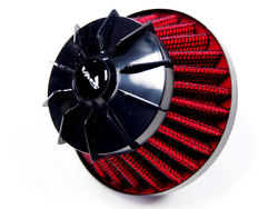 Vms Racing Red Black 9mm 9 Mm Nipple Valve Cover Breather Air Filter Finned Hose