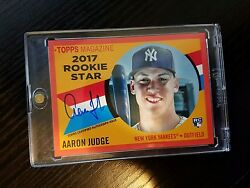 2017 Topps Archives And03960 Rookie Stars Autographs Red Rsaaj Aaron Judge /25 Rare