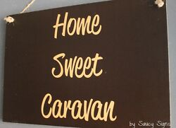 Bk Home Sweet Caravan Sign Rv Rustic Camping Camper 4wd Wooden Holiday Vacation