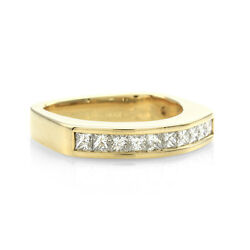 0.60ctw Vs1 E- F Coffin And Trout Paragon Diamond Band In 18k Yellow Gold