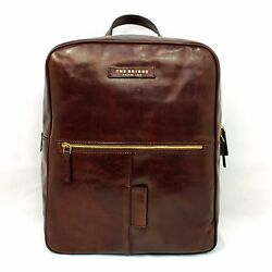 Man Woman Backpack THE BRIDGE brown leather rucksack for laptop 06423501 EUPG