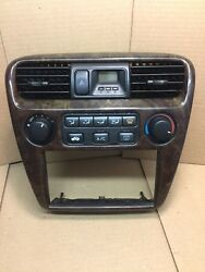 98 99 00 01 02 Honda Accord Center Dash Heater Climate Control Wood grain Bezel
