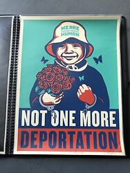 Shepard Fairey Obey Giant Not One More 2015 Street Art Immigration Print Poster