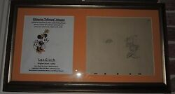 Reduced Disney Original Les Clark Minnie Mouse Early Production Drawing Display