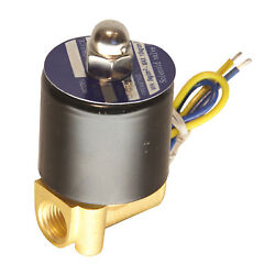 Hfsr 12v Dc 1/4 Electric Solenoid Valve Water Air Gas, Fuels N/c - Brass
