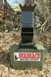 Shadrach V2 Portable Rocket Stove with a New 50 cal. Ammo can New Larger Design