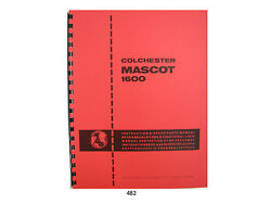 Colchester Mascot 1600 Lathe 17 Op, Service, And Parts Manual 482