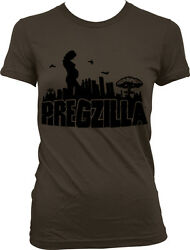 Pregzilla - Pregnant Expecting Funny Baby Shower Gift  Juniors T-shirt