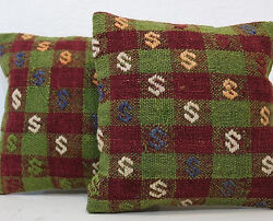 Embroidered Pillow Cushion Cover Decorative Vintage Throw 12 Pair,green Pillows