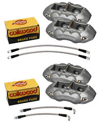 Wilwood Brake Caliperpadand Line Kitfront And Rear1965-1982 Corvette C3new