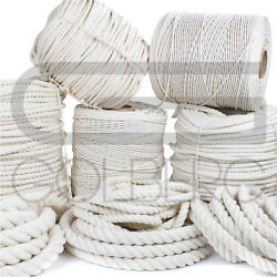 Golberg Twisted 100 Natural White Cotton Rope - Several Lengths To Choose From