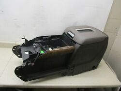 GENUINE 15-18 GM CHEVY GMC CENTER CONSOLE STORAGE COMPARTMENT BROWN W/ GRAY LID