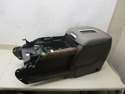 GENUINE 15-18 GM CHEVY GMC CENTER CONSOLE STORAGE COMPARTMENT BROWN W GRAY LID