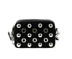 NWT NEW Authentic Michael Kors Collection Julie Leather Camera Bag ~Black