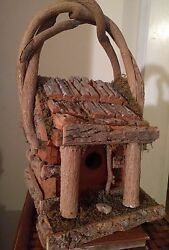 Pre-owned Cabin Style Wood Bird House