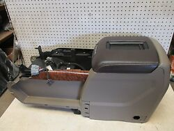 GENUINE 15-18 GM CHEVY GMC CENTER CONSOLE STORAGE COMPARTMENT TAN W BROWN LID