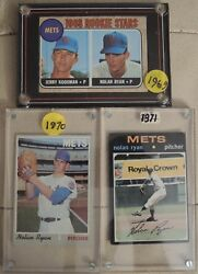 1968 Nolan Ryan Rc Rookie +2 Ny Mets Cards Ungraded Solid Condition Great Gift