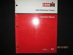 Case - Ih 8840 Windrower Tractor Operator`s Manual Factory Original 1988 - 1989