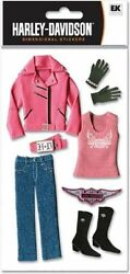 Harley Davidson Pink Clothing 3d Stickers Motorcycle Rider Jacket Belt Boots