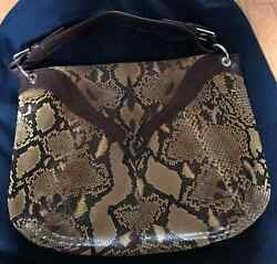 RALPH LAUREN COLLECTION Authentic Hobo Python Designer Handbag   Purse-NEW!