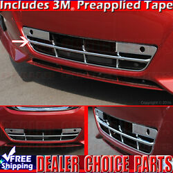 For 2016 2017 2018 Nissan Altima Chrome Grill Cover Lower Bumper Overlay