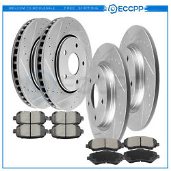 Ceramic Brake Pads And Rotors Front Rear For Dodge Journey Chrysler Town