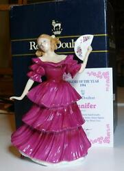 Royal Doulton Jennifer Figurine Of The Year 1994 Hn 3447 Box And Certificate