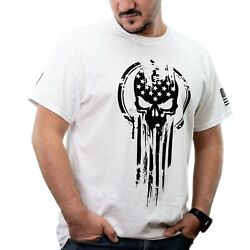 American Warrior Flag Skull Military Men's T-Shirt  $19.99