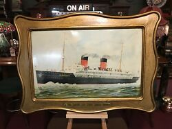 1908 Tin Sign Self Framed La Provence French Ocean Liner Watch Video