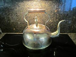 Antique Asian Copper And Brass Water Kettle From Middle East