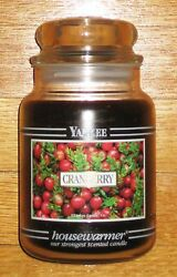 Yankee Candle - 22 Oz - Cranberry - Black Band - Very Rare And Hard To Find