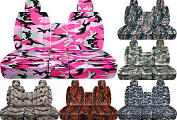 Cc Camouflage 40-20-40 Car Seat Cover Fits Ram Trucks 2011-2018 Choose