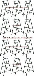 Set Of 12 - 6and039 A Frame Folding Trestle For Masonry Contractor Work Cbm Scaffold
