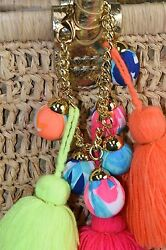 New Lilly Pulitzer Riviera Straw Tote Bag Natural LARGE Beach Pool Bag BRACELET