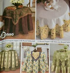 Simplicity Home Decorating Pattern 5467 Table Covers 20-30 Tables - Easy Uncut