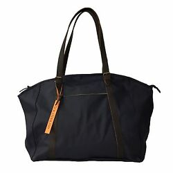 Voila And039haviland Man Bag Blue Weekend Cotton Waxed Details Leather
