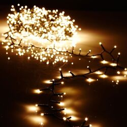 36.5' Snake Garland 500-lt Clear Led Green Wire 8-function Remote Raz G3737065