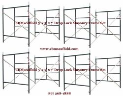 4 Set Of 5and039 X 5and039 X 7and039 Masonry Bj Drop Lock 1.69 Scaffold Frame Set Cbmscaffold