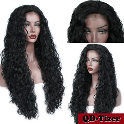 Heat Resistant Long Loose Curly Lace Front Wigs Synthetic Womenand039s Full Wig 26