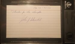 John Schnabel Signed Autographed 3x5 Bas Beckett Authentic Gold Rush Discovery