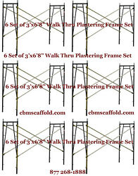 6 Set Of 3and039 X 6and0398 X 10and039 Plastering Masonry Scaffold Frame Set Cbm Scaffold