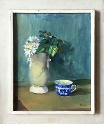 Still Life - Oil On Board Painting By Anatol Gorohovetz 1902- 1980