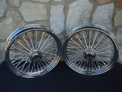 16x3.5 Dna Fatty Mammoth 40 Spoke Front And Rear Wheel 00-06 Set Harley Heritage