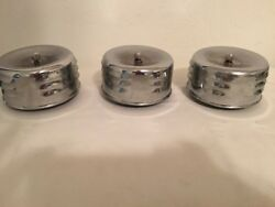 (3) VINTAGE ORIGINAL CAL CUSTOM LOUVERED CHROME AIR CLEANER 2 58