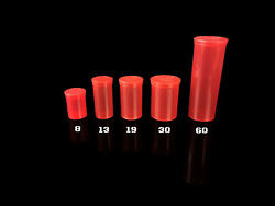 Red Squeeze Pop Top Jars Containers Choose Dram Size And Qty Case Count Made Usa