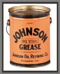 Johnson Grease Can Sign Oil Gasoline Vintage Style Metal Sign