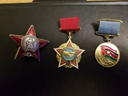 Sevet Union Ussr Ww2 Orders And Medals Solders Bedge