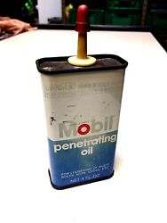 Rare Vintage Mobil Can Tin With Red Pegasus Mobile Penetrating Oil 4oz 0.118lt