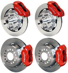Wilwood Disc Brake Kit,complete,64-72 Chevy Chevelle,12 Rotors,red Calipers